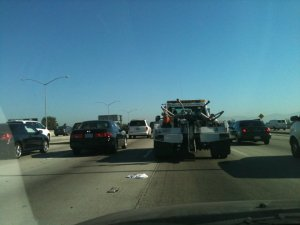 My daily commute. I took this photo in 2011 because I missed the super light traffic during Carmageddon.